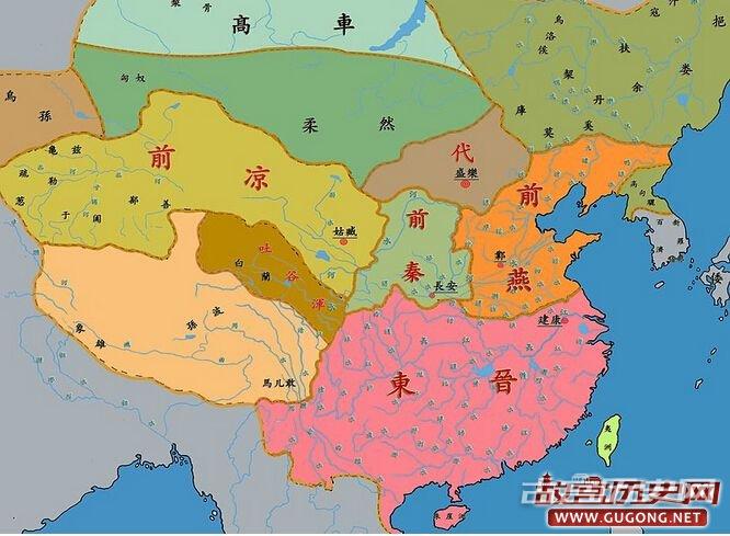十六国地图,五胡十六国地图