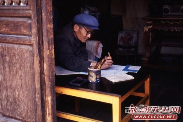 丽江古城老照片:依山傍水的丽江古城 1994年