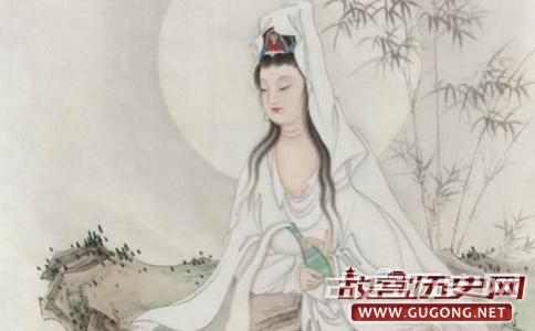 """观音菩萨化妇人建台念经超度十万亡魂成""""水月观音"""""""