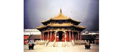 """清朝陪都盛京沈阳故宫内的""""大政殿"""",清太祖努尔哈赤所建。"""