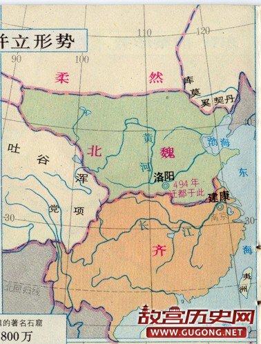 南北朝地图