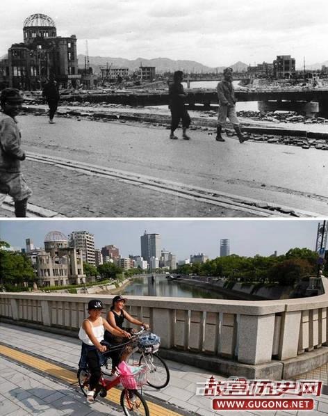 日本原子弹爆炸现场今昔对比