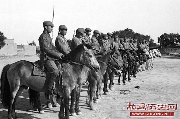 抗战老照片:中国人民红军抗日先锋军在陕西
