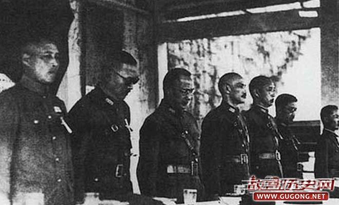 1938年,蒋介石主持第一次南岳会议