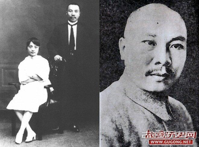 左:朱培德夫妇1920年合影;右:国军一级上将朱培德(1889-1937)