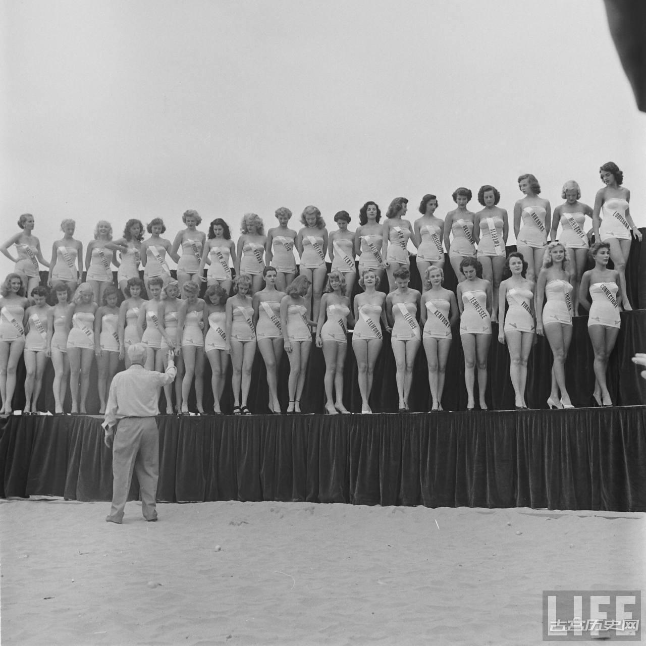 1952年首届世界环球小姐选美赛投降没几年的日本也参加了