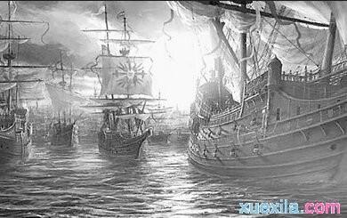 16世纪英国击败西班牙无敌舰队