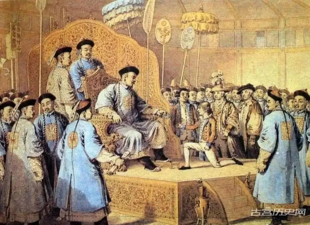 ▲马戛尔尼使团随团画家笔下的乾隆盛世